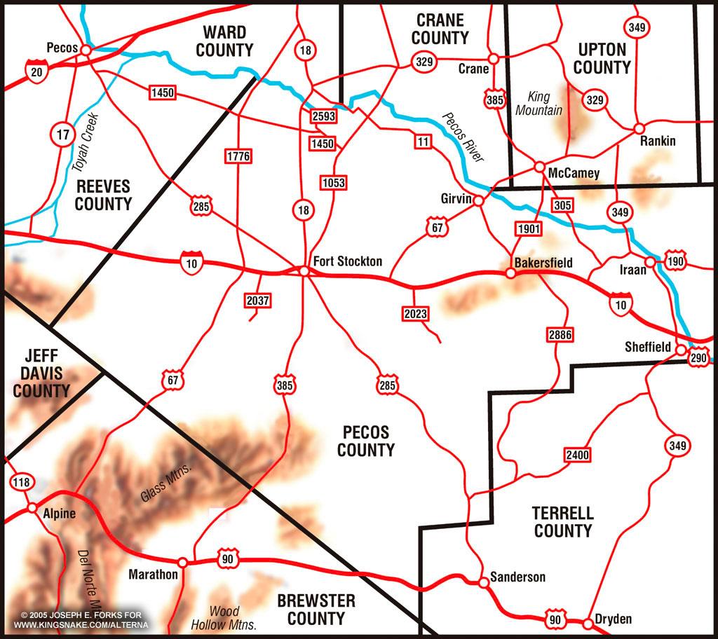 Pecos County Texas Map