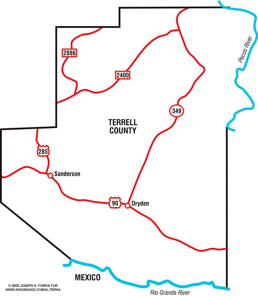 Terrell County Texas Map
