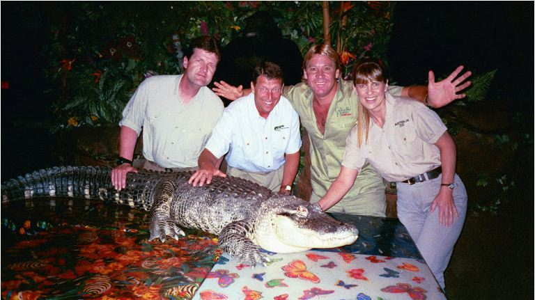 Photo: Steve Irwin and Jim Nesci